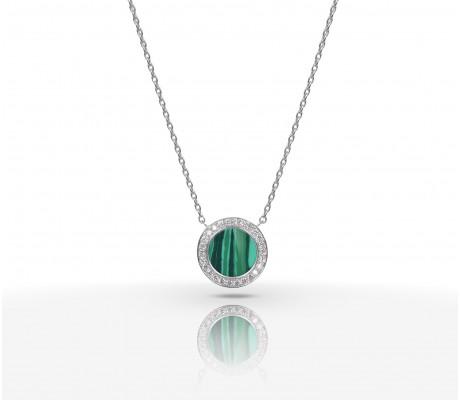 JW Circle Of Life - Necklace WG Malachite