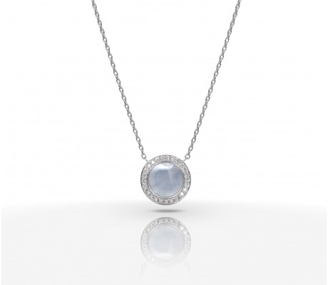 JW Circle Of Life - Necklace WG Pearl
