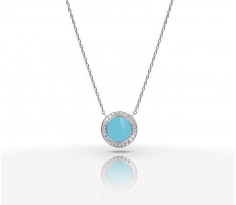 JW Circle Of Life - Necklace WG Turquoise