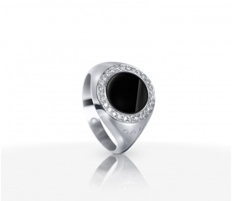 JW Circle Of Life - Ring WG Onyx