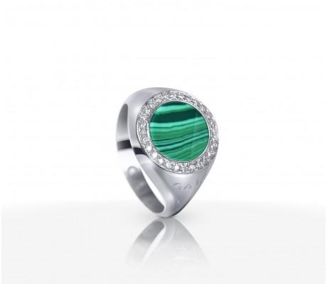 JW Circle Of Life - Ring WG Malachite