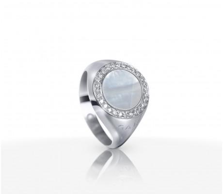 JW Circle Of Life - Ring WG Pearl