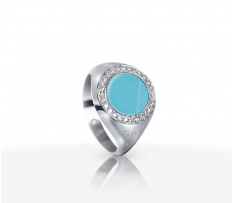 JW Circle Of Life - Ring WG Turquoise