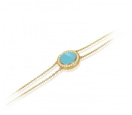 JW Circle Of Life - Bracelet YG Turquoise