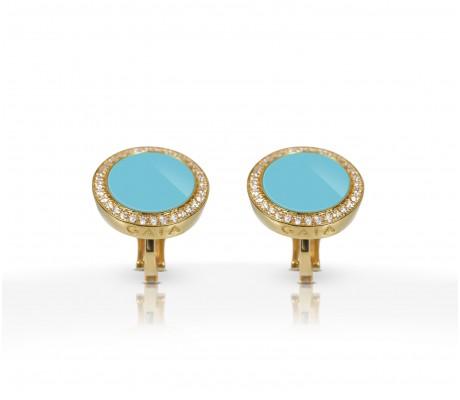 JW Circle Of Life - Earrings YG Turquoise
