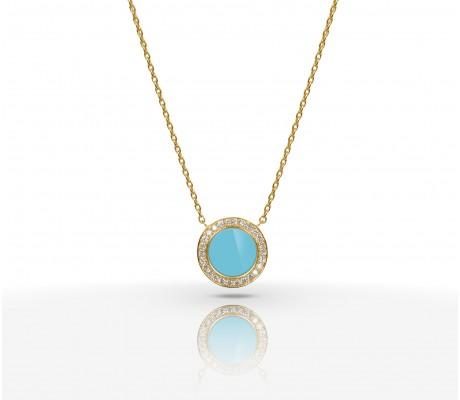 JW Circle Of Life - Necklace YG Turquoise