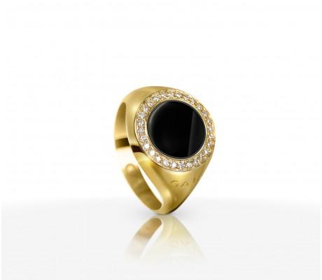 JW Circle Of Life - Ring YG Onyx