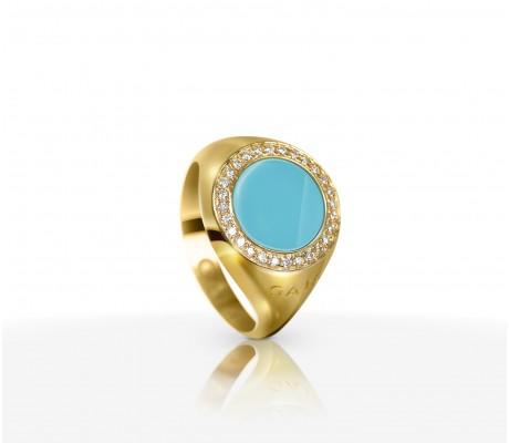 JW Circle Of Life - Ring YG Turquoise