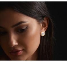 JW Circle Of Life - Earrings YG Pearl