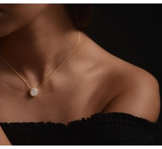 JW Circle Of Life - Necklace YG Pearl