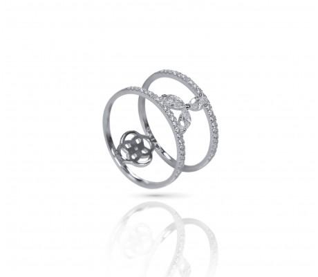 JW - Halo Ring - White Gold
