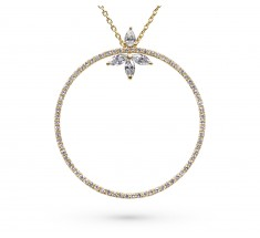 JW - Halo Necklace - Yellow Gold