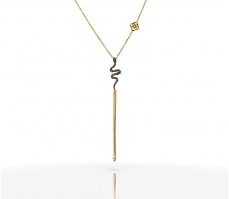 JW - Necklace Bracelet - Snake YG