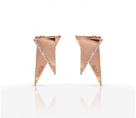 JW Pyramid - Earrings Rose Gold