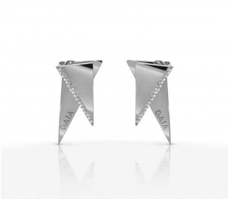 JW Pyramid - Earrings White Gold