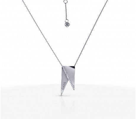 JW Pyramid - Necklace White Gold