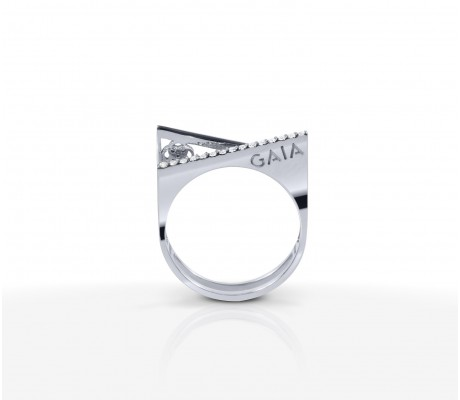 JW Pyramid - Ring White Gold