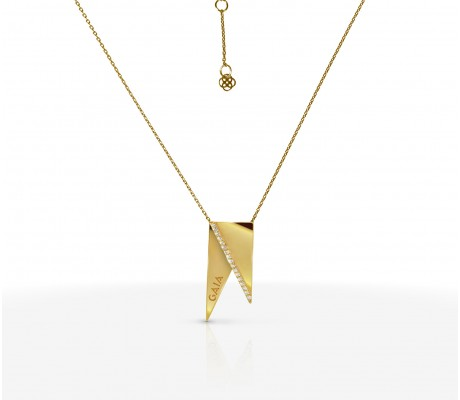 JW Pyramid - Necklace Yellow Gold