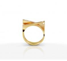 JW Pyramid - Ring Yellow Gold