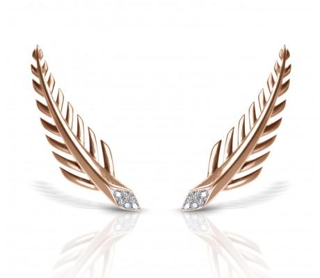 JW - Palm Earrings - Rose Gold