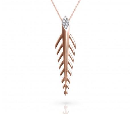 JW - Palm Necklace - Rose Gold
