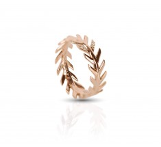 JW - Palm Ring 2 - Rose Gold