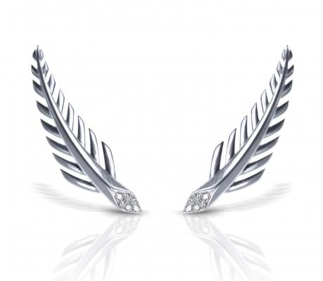 JW - Palm Earrings - White Gold