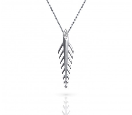 JW - Palm Necklace SML : White Gold