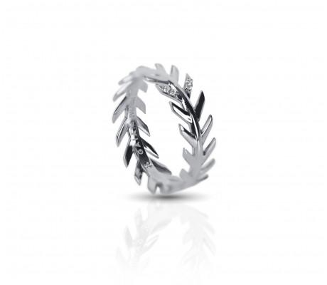 JW - Palm Ring 2 - White Gold