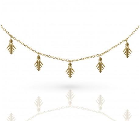 JW - Palm Chocker - Yellow Gold