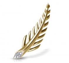 JW - Palm Earrings - Yellow Gold