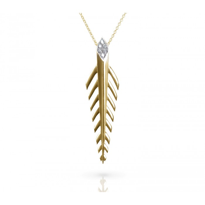 JW - Palm Necklace - Yellow Gold