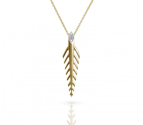 JW - Palm Necklace SML : Yellow Gold