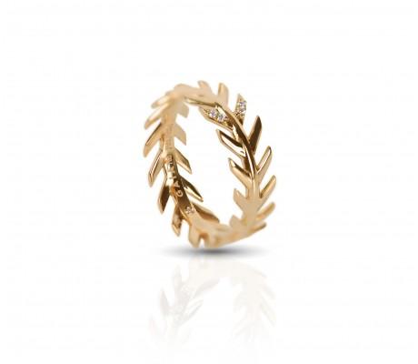 JW - Palm Ring 2 - Yellow Gold