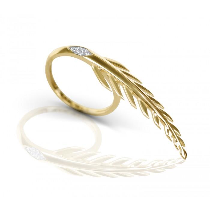 JW - Palm Ring - Yellow Gold