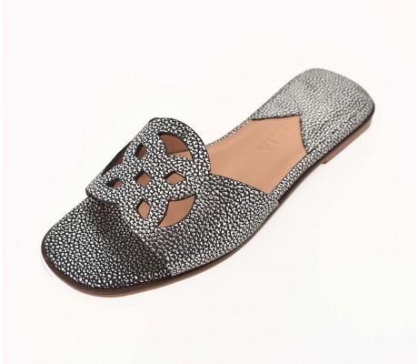 Lock Collection Shoes - Metallic Ancien