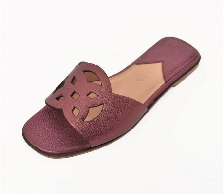 Lock Collection Shoes - Metallic Grape