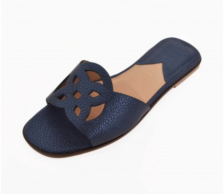 Lock Collection Shoes - Navy Blue