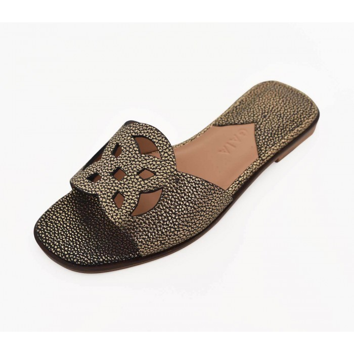 Lock Collection Shoes - Metallic Oro