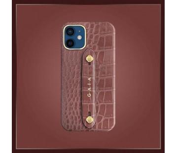 iPhone 12 Mini - Croco Dusty Brown