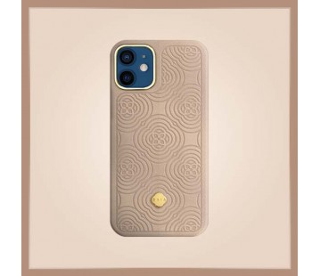 iPhone 12 Mini - Debossing Leather Gold