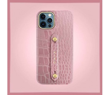 iPhone 12 Pro - Croco Dusty Pink