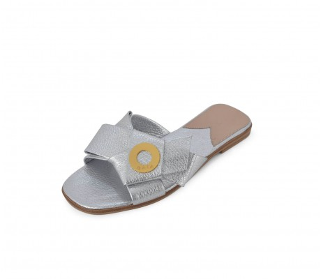 Napolian Shoes Flats - Silver