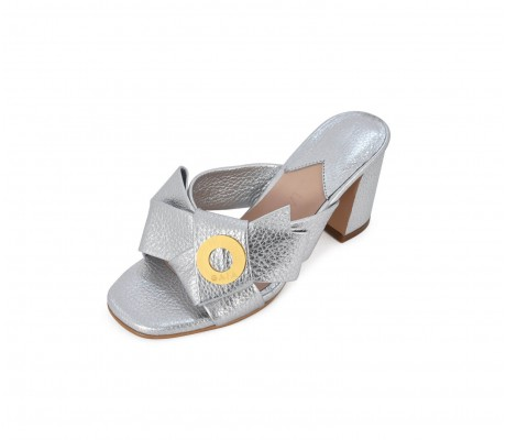 Napolian Shoes Heels - Silver