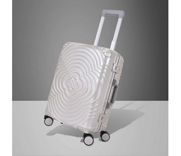 Metallic Silver Suitcase