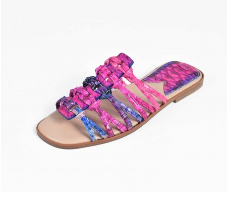 Roman Shoes - Multi Pink