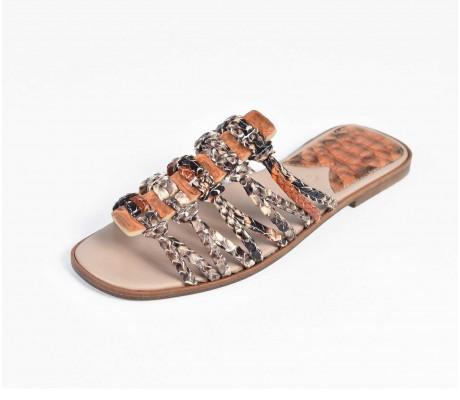 Roman Shoes - Multi Vivid Orange