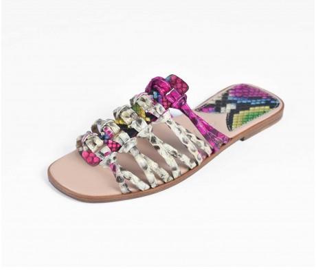 Roman Shoes - Multi Fuchsia