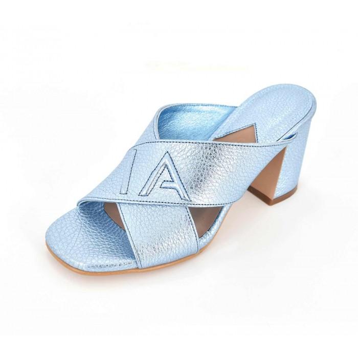 SPL Shoes Heels - Metallic Ice Blue