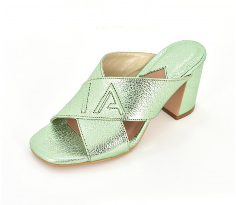 SPL Shoes Heels - Metallic Green